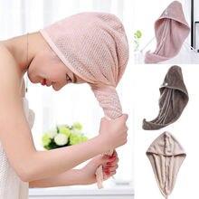 Microfiber Hair Fast Drying Dryer Towel Bath Wrap Hat Quick Cap Turban Dry