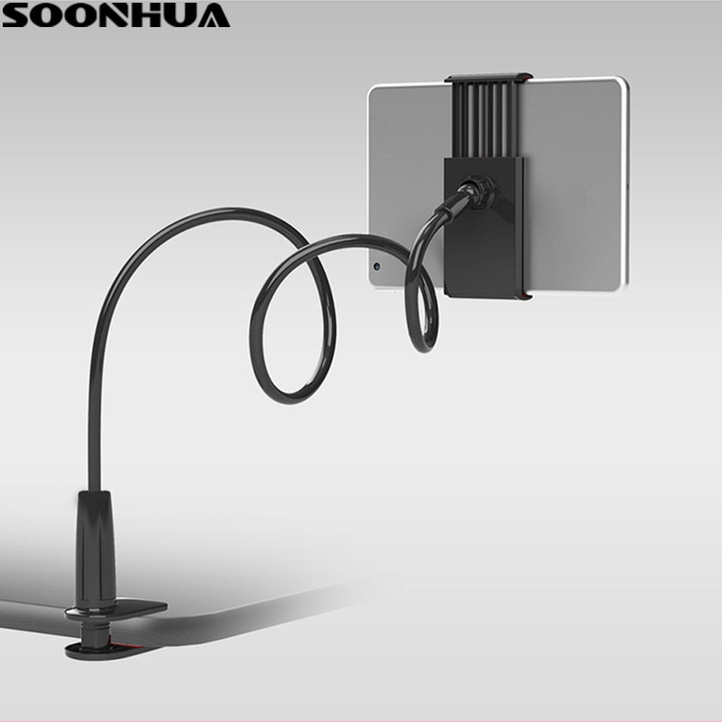SOONHUA Phone Holder 360 Rotating Flexible Long Arm lazy Phone Holder Clamp Bed Tablet Car Selfie Mo