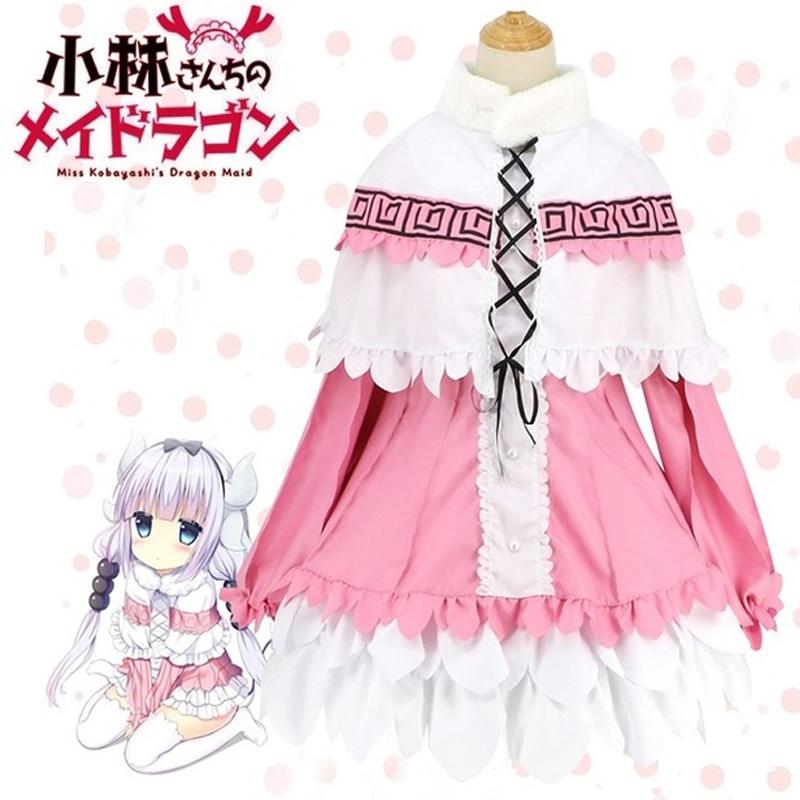 Аниме Miss Kobayashis Dragon Maid Kamui Kanna фартук платье униформа одежда Meidofuku рубашка плащ юбка костюм для косплея