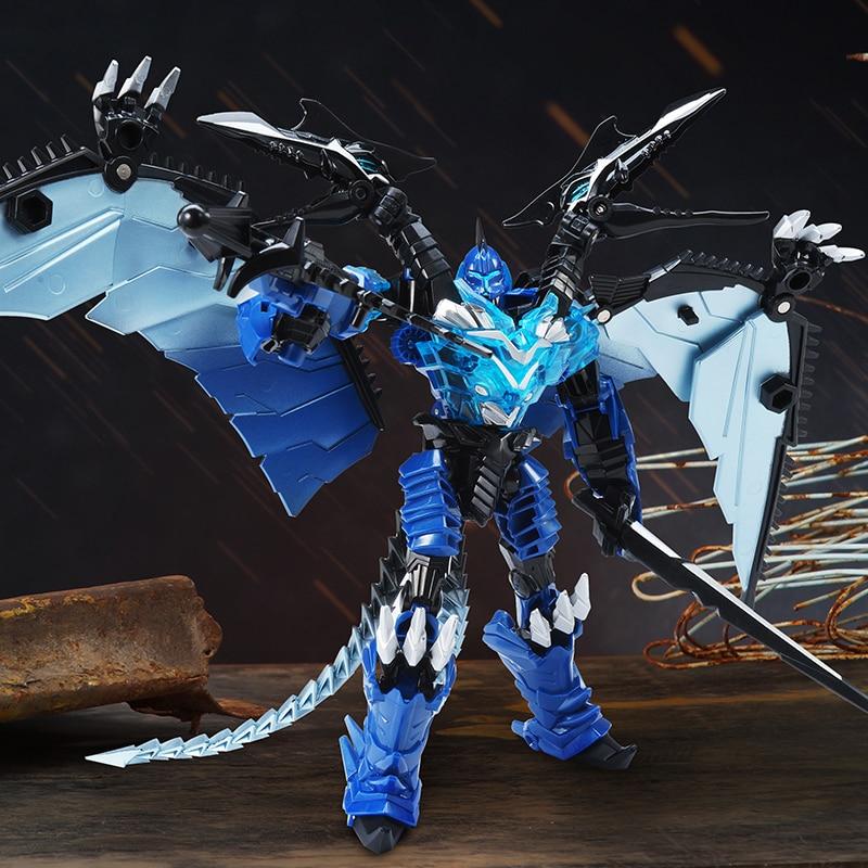 Weijiang transformação filme azul swoop dinobot pterosaur 25cm liga edição figura de ação robô brinquedos para k