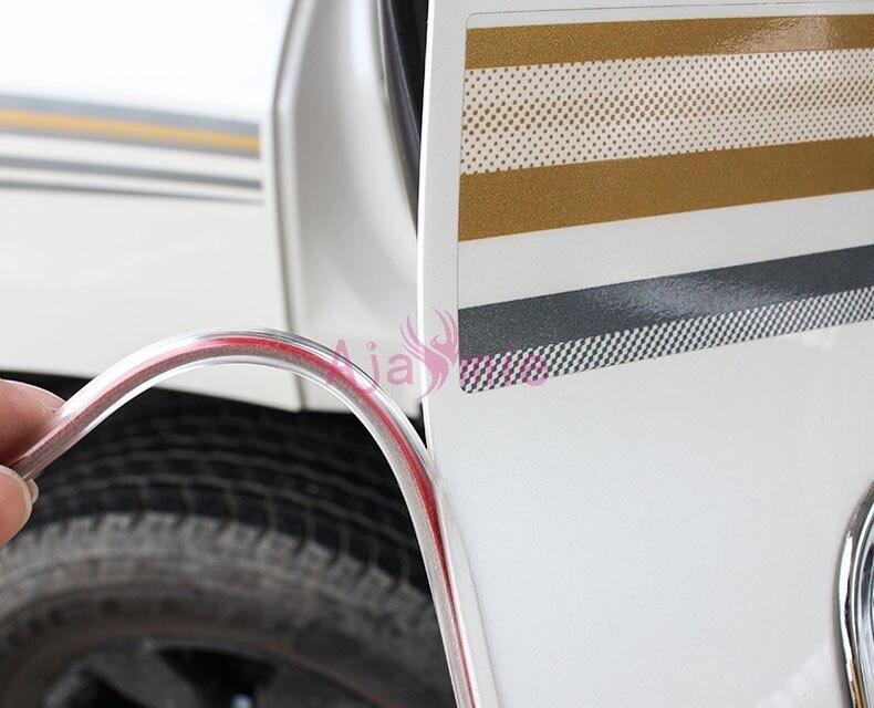Краш барьер задний багажник дверь формовочные полосы белый цвет бампер для Toyota Land Cruiser LC 200 100 FJ100 FJ200 аксессуары