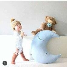 Oreiller bébé enfant en bas âge   Mignon, oreiller lune, sommeil, jouet de lit, ensemble de literie Portable pour chambre à coucher, décor pour chambre de bébé