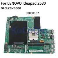 KoCoQin Laptop motherboard For LENOVO Ideapad Z580 Support Core I3 I5 I7 Mainboard DA0LZ3MB6G0 90000107 SLJ8E