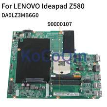 KoCoQin carte mère dordinateur portable pour LENOVO Ideapad Z580 Support Core I3 I5 I7 carte mère DA0LZ3MB6G0 90000107 SLJ8E