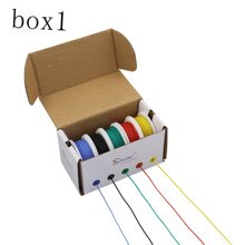 30 m 20AWG Flexible Silikon Draht Kabel 5 farbe Mischen box 1 box 2 paket Elektrische Draht Linie Kupfer