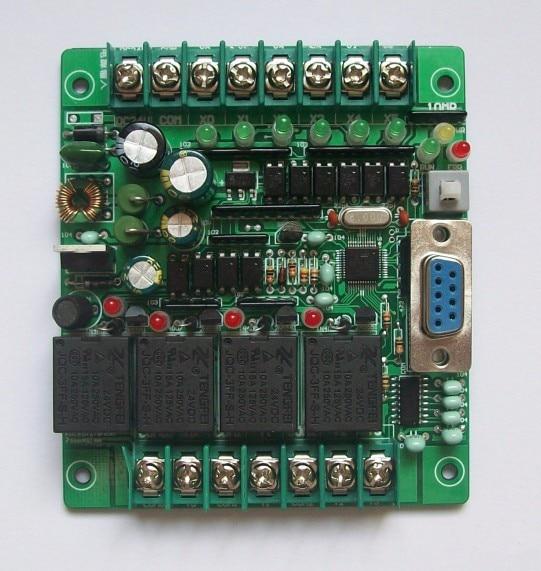 Rápido envío gratis PLC control industrial MCU control panel Controlador programable FX1N-10MR SRD24VDC PLC