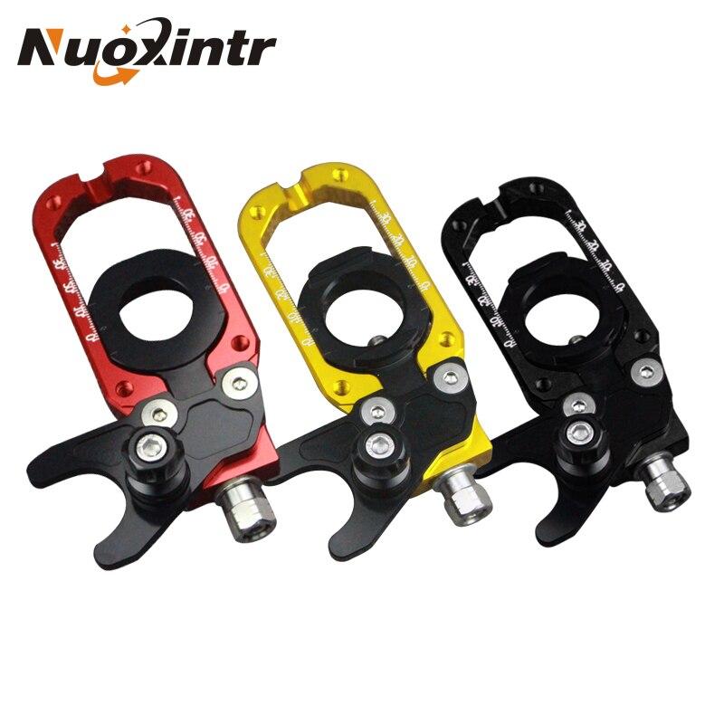 Nuevos tensores CNC de aluminio para motocicleta, ajuste de cadena de eje trasero, ajuste mecanizado CNC para Tmax-530