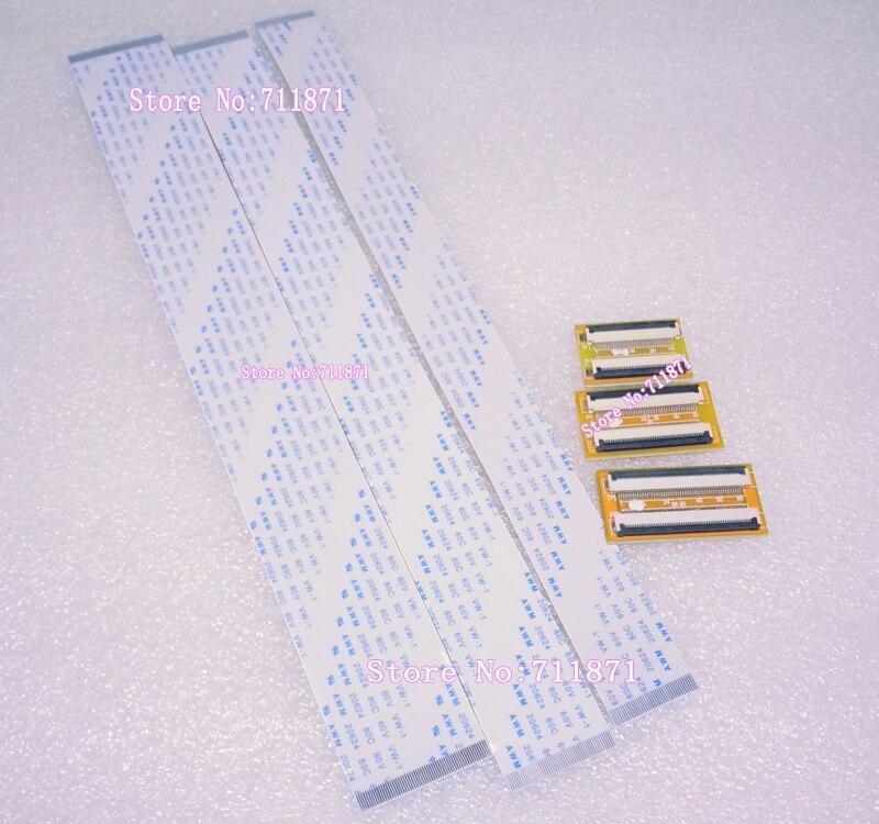 Cable de extensión plano Flexible de tipo A 0,5, 40P, 50P, 60 Pines, adaptador de Cable de extensión 40 50 pines 60 P FPC FFC TTL, línea de unión de conector de extensión