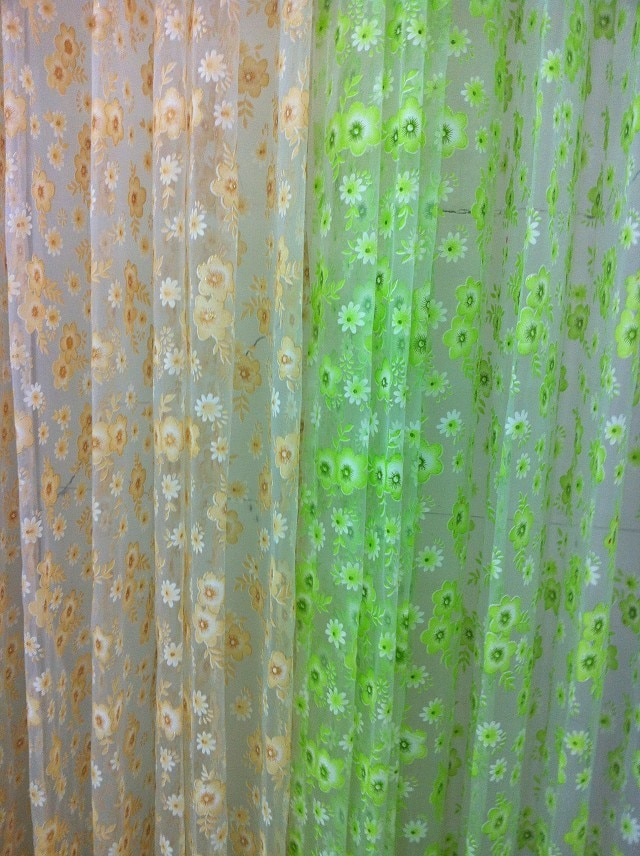 CS 32 1 Uds elegante Floral tul Voile ventana cortina tela Panel cortina pura bufanda cenefas cortina para oficina tejidos personalizados diy