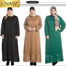 Dubai Abaya musulmán vestido de talla grande caftán vestido Abaya marca suave musulmán vestido de encaje Dubai vestido Abaya 6XL 7XL