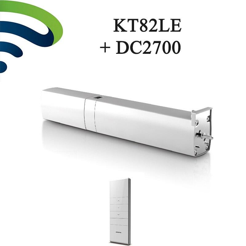 Original dooya motor cortina carregável kt82le dc cortina automática bateria do motor com 2700 controle remoto luz toque