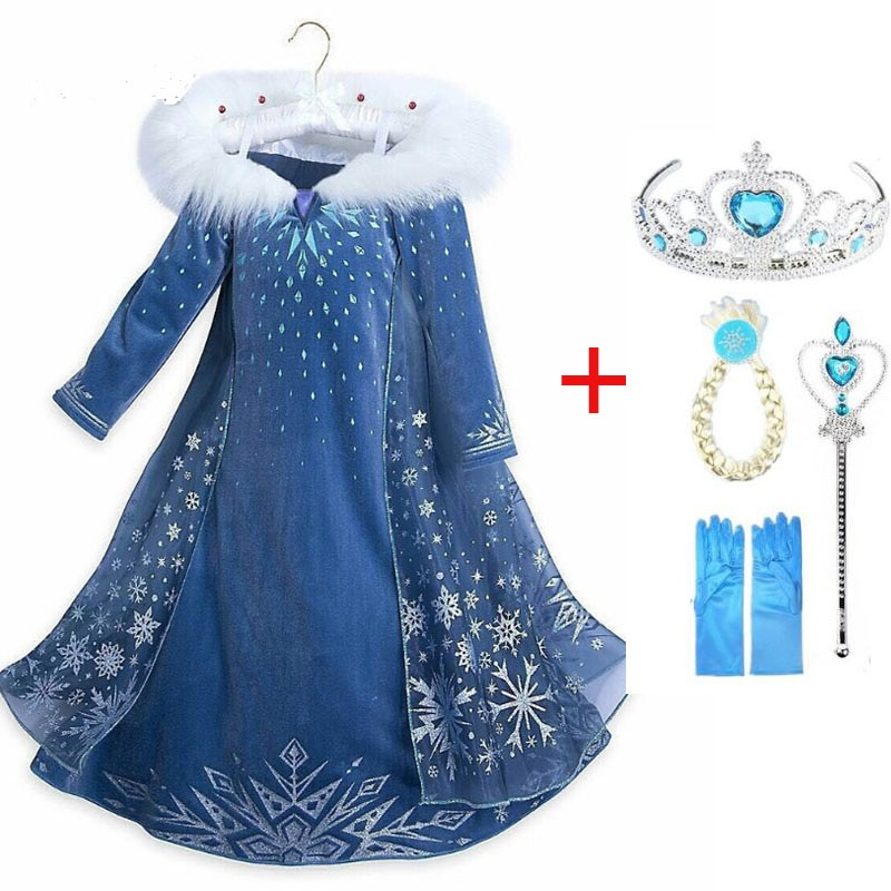 Disfraz de reina de la nieve para niñas, disfraz de Elsa, princesa,...