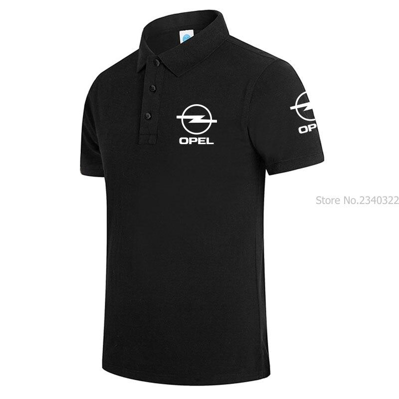 Size 3xl Men Polo Shirt Short Sleeve Fashion Mens Opel Polo shirts Casual White Black blue red gray Male Polo Shirt 5 Colors