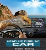 car speed projector on board on windshield a8 hud head up display overspeed alarm safe driving obd2 digital car speedometer