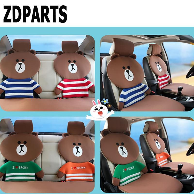 ZDPARTS de dibujos animados fundas de cojín para asiento de coche familia cálida equipo para Hyundai i30 ix35 ix25 Solaris Tucson 2017 Mazda 3 6 cx-5 Subaru