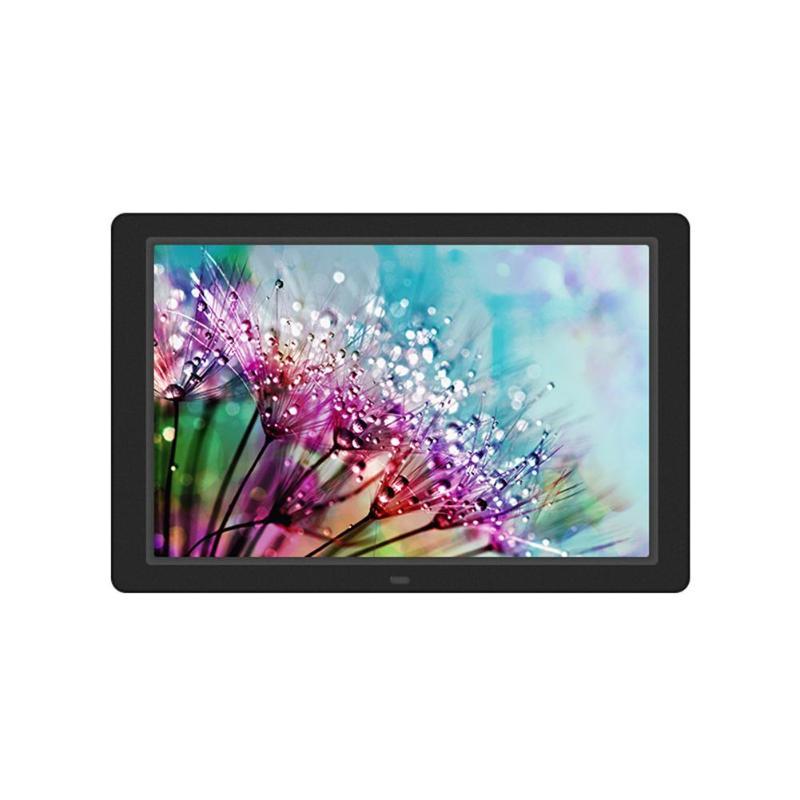 ALLOET 12,1 pulgadas marco de fotos Digital 1280X800 HD LED Back-light álbum electrónico marco de fotos Digital publicidad música Video