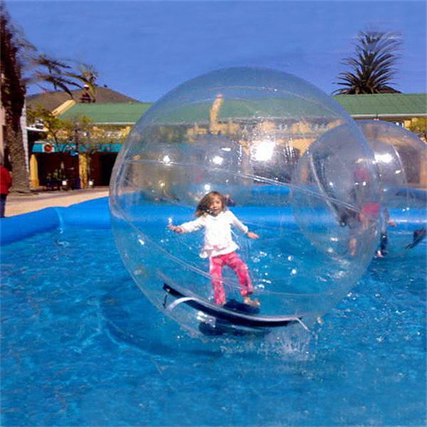 O envio gratuito de equipamento do jogo da água 1.5 m diâmetro água zorb bola para jogos da piscina tpu material água andando bola para o lago/mar à venda