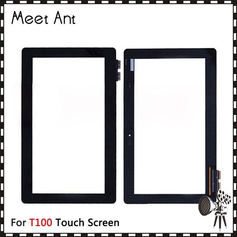10 unids/lote de 10,1 pulgadas de alta calidad para Asus libro de transformador T100 T100TA Digitalizador de pantalla táctil Sensor frontal Panel de lente de vidrio exterior