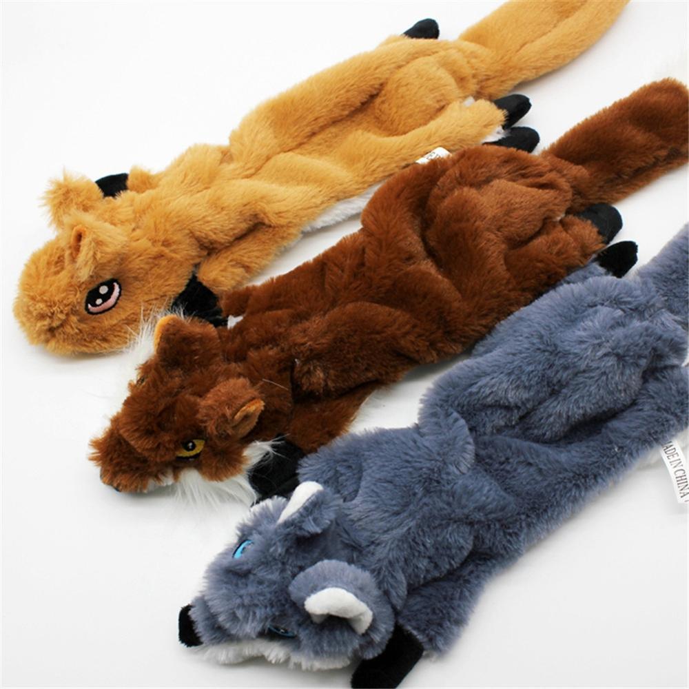 Perro interactivo de peluche de juguete Squeaker Durable no relleno Squeaky juguete para mascotas seguro medio grande perro juguetes animales máquina lavable