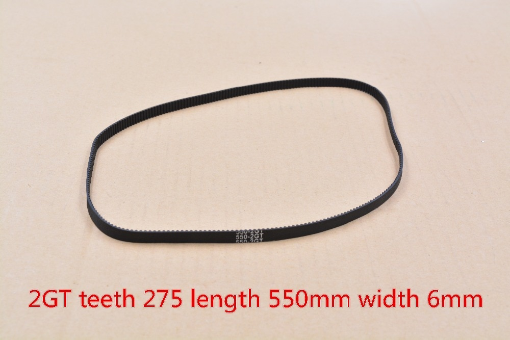 Cinto de impressora 3d 2GT closed loop borracha correia dentada 275 dentes de comprimento 550 milímetros de largura 6mm 550-2GT-6 1 pcs