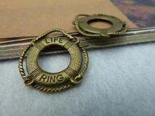 20 قطعة العتيقة برونزية لايف بوي سحر لتقوم بها بنفسك صنع المجوهرات