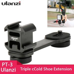 Ulanzi тройное Крепление-адаптер для горячего башмака, удлинитель микрофона для Zhiyun Smooth 4 DJI Osmo Pocket Gimbal аксессуары