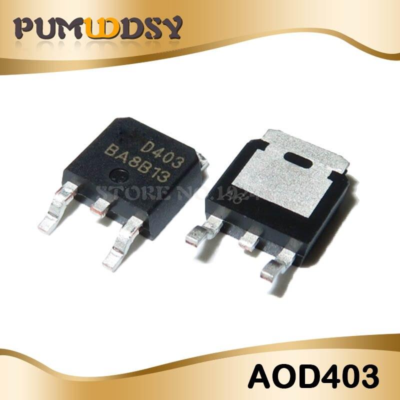 10 piezas AOD403 a-252 D403 TO252 30V 85A P canal MOSFET envío gratuito