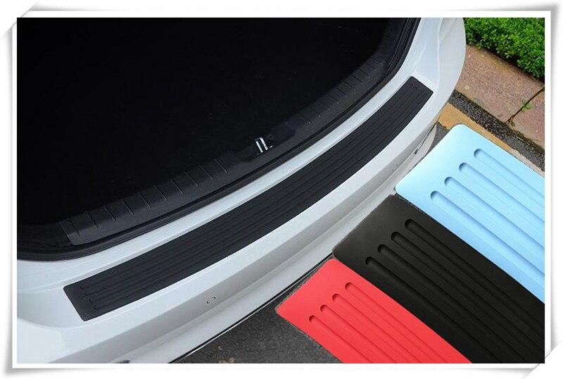 Coche de estilo parachoques trasero del coche Protector Sill Cover Sticker para skoda Octavia 2 a5 a7 Fabia para audi a4 a5 b6 a6 c5 b8 c6 b7
