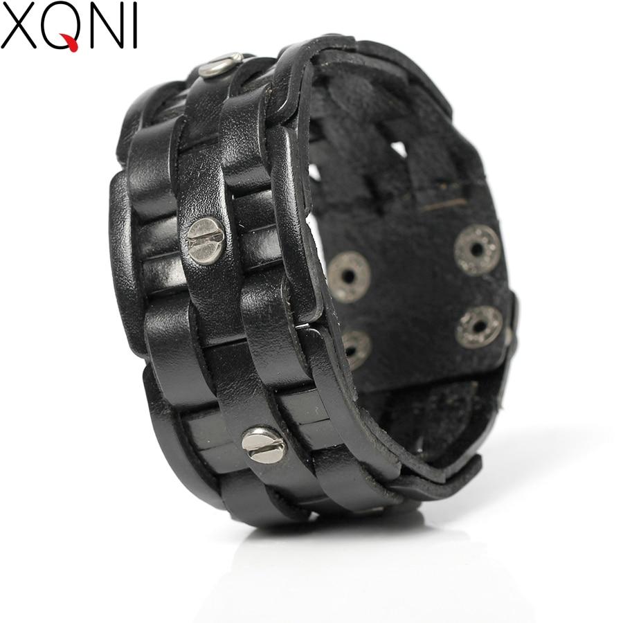 2017 New Fashion Pearl-Clasps Bandage Charm Men's Bracelets Popular Bandage Woven Wrap Male Leather Bracelets.