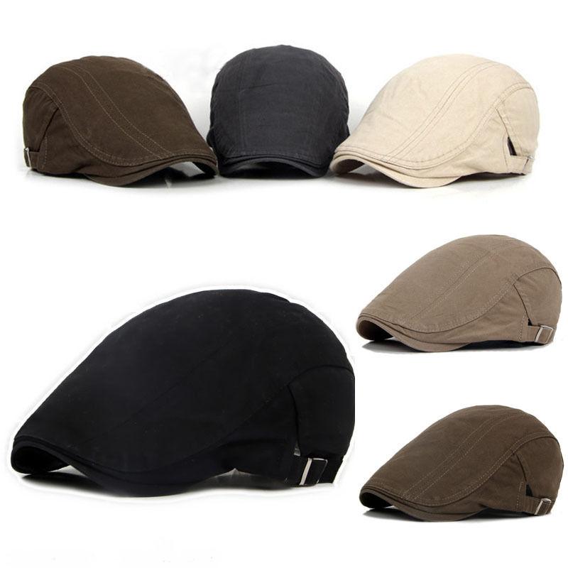 New Men's Hat Berets Cap Golf Driving Sun Flat Cap Fashion Cotton Berets Caps for Men Casual Peaked