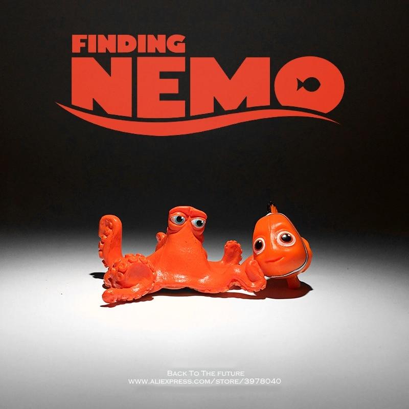 Disney Procurando Nemo 3-5 cm mini PVC Action Figure Modelo Coleção Anime Estatueta modelo Brinquedos para presente das crianças