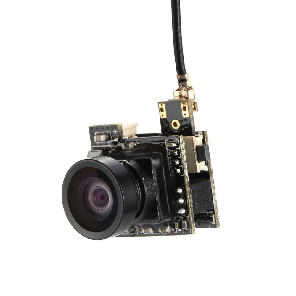 LST-S2 AIO 800TVL CMOS Mini FPV Cámara RC juguete piezas accesorios con 5,8G 40CH 25mW Antena de látigo para Dron de carreras de control remoto