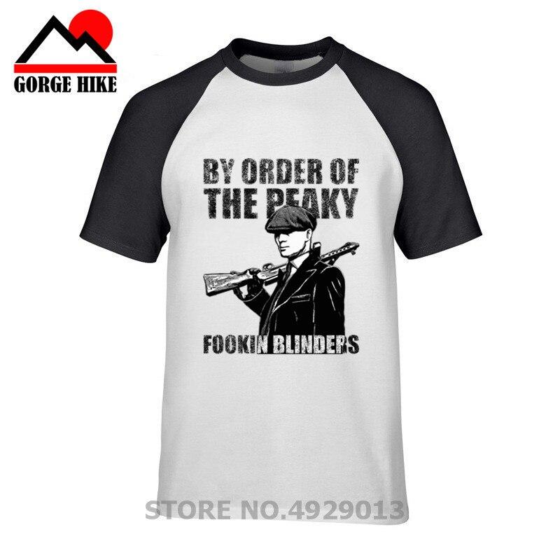 Camiseta Retro de Ester Bros estilo Inglaterra Peaky Blinder Retro Tee shirt homme por orden del Peaky fookin Blinders camisetas hombres