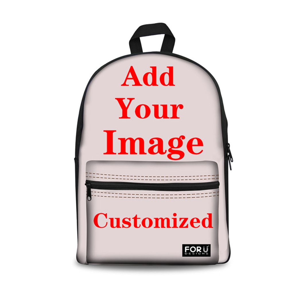 Customized School Bags Brittany Flower Printing Backpack for Children Satchel Schoolbag for Teenagers Mochila Escolar Bookbag