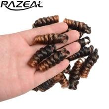 RAZEAL 8 paquetes Crochet trenzas Kenzie curl Crochet trenzas 6 pulgadas 20 pulgadas rizado trenzar cabello para BOUNCE TWIST