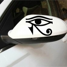 RA Horus Eyes of Egyptian Car Rearview Mirror Sticker Pet Reflective Sticker Demon Eye Sticker