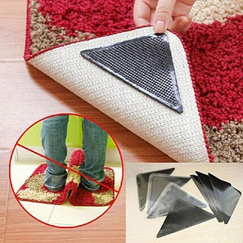 Non-Slip Rug Carpet Mat Grippers Rug Carpet Mat Grippers Non Slip Anti Skid Reusable Washable Silicone Grip 4 Pairs
