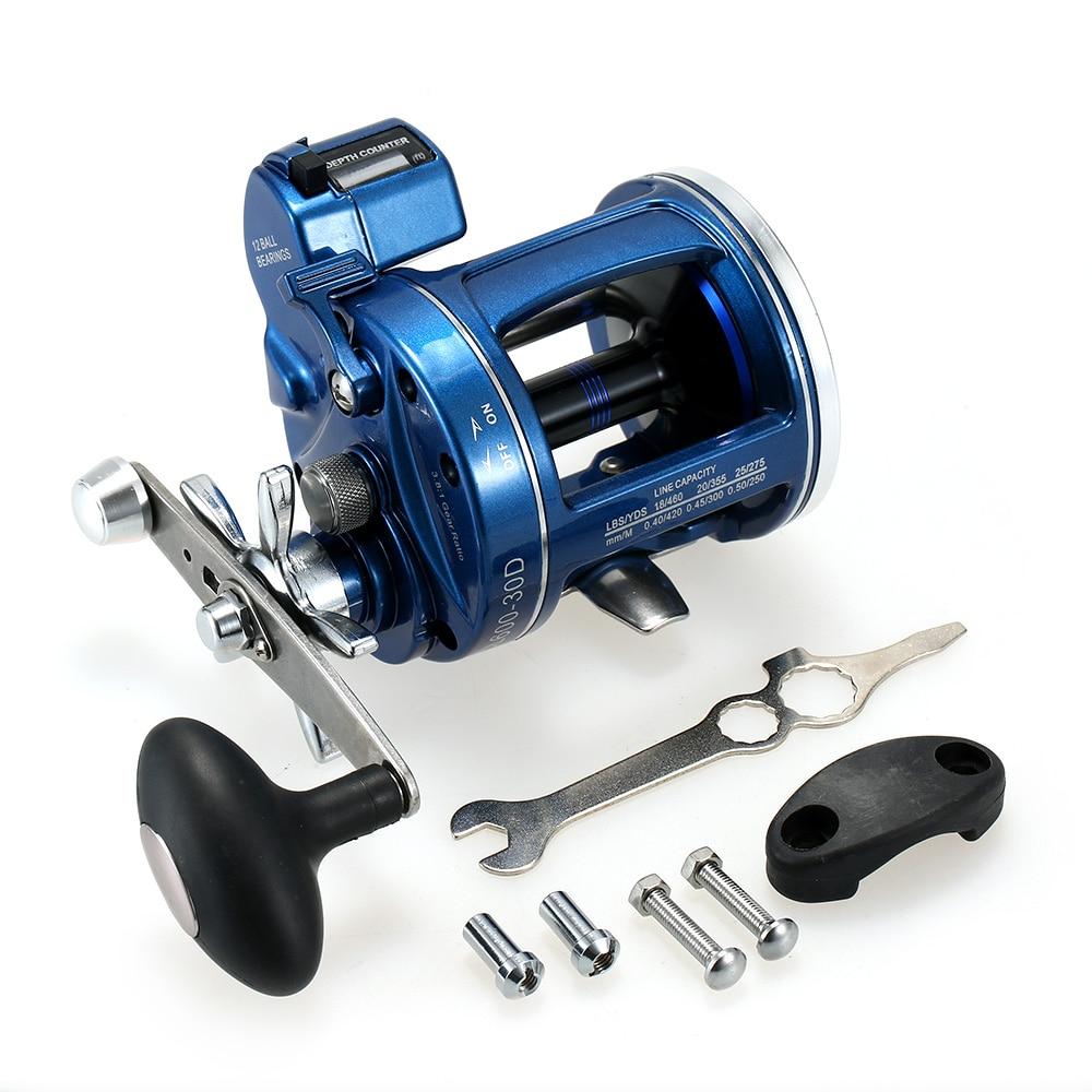 Carretel de pesca 12 rolamentos esferas corrico carretel com linha contador alarme sino tambor carretel pesca da carpa acessórios