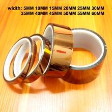 Bande à hautes températures de doigt dor de 30 m/roll PI film polyimide soudure industrielle bande dimpression 3D résistante à la chaleur
