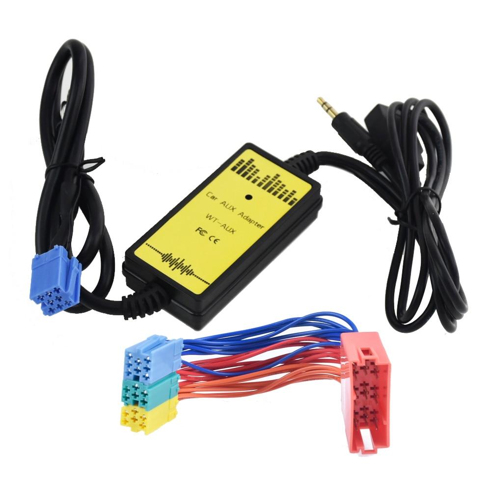 Car Audio USB AUX Adapter 3.5mm interface AUX Cd-wisselaar voor Skoda Fabia Octavia Superb Voor Seat Ahambra Arosa ibiza Leon