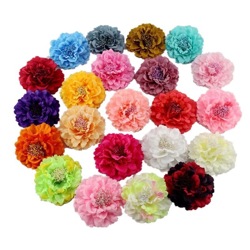 Accesorios para el cabello para mujer, gran flor peonía, horquillas para el cabello, broche de flores de tela, pinza para el cabello para mujer, accesorios para el cabello para playa