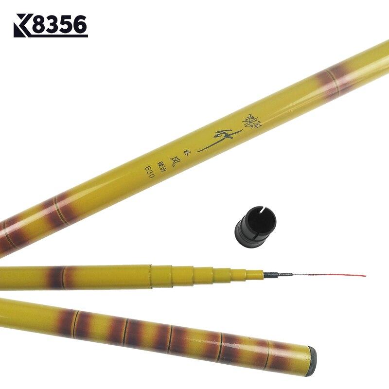 K8356 3.6 4.5 5.4 6.3m FRP Carp Fishing Telescopic Rod Winter Fishing Tackle High Strength High Hardness Chinese Wind Sea Rod