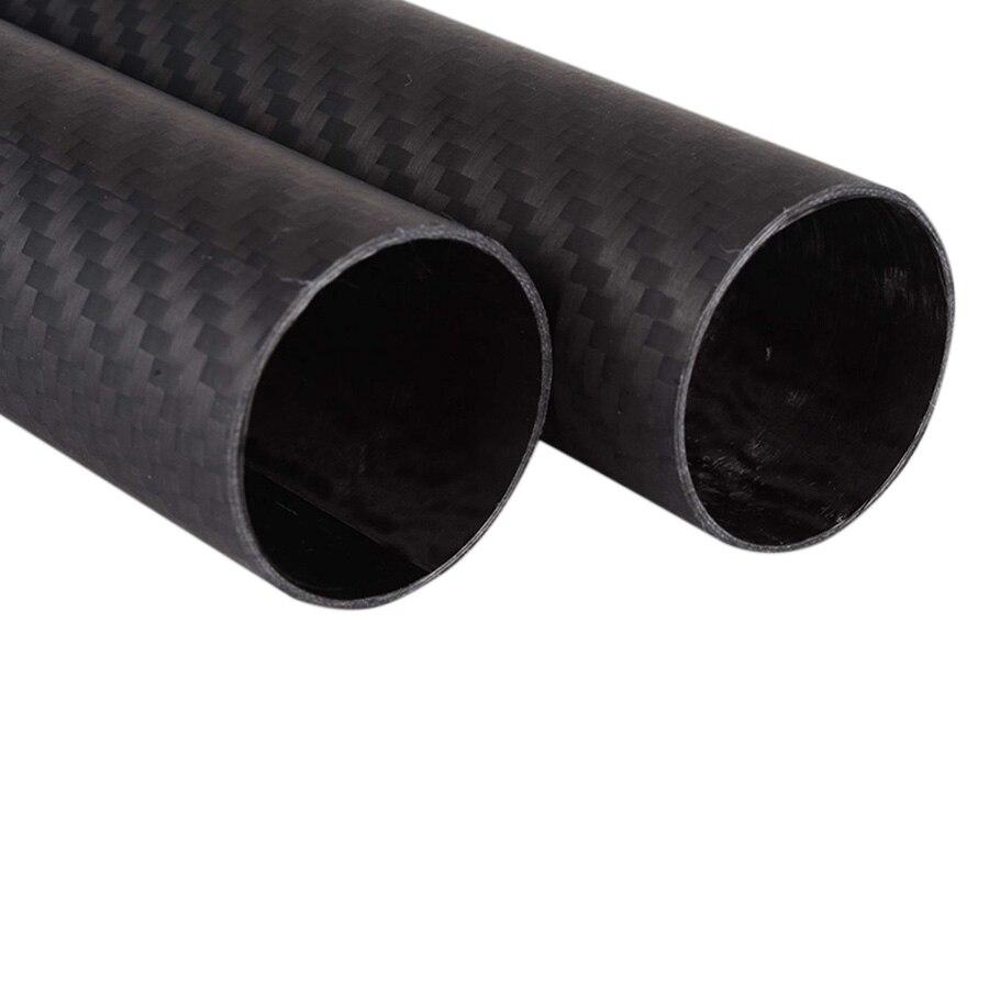 2 pcs/lot 3 k fibre de carbone tube 3 K 2 pièces longueur 500 18*20 20*22 23*25 28*30*500 20x18 22x20 25x23 30x28 x 500mm