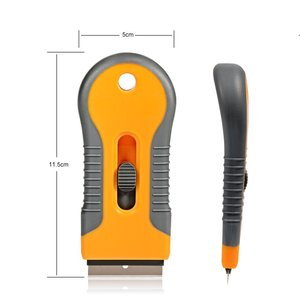Image 2 - EHDIS бритвы скребок с 10 шт. Сталь лезвия Ножи тонировка Инструменты Авто Стикеры Ракель Виниловая Пленка Клей скребок для удаления тонировка для авто
