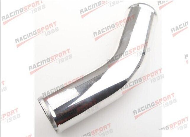 """Radiador turbo de aluminio de 2,75 """"70 MM 45 grados tubo longitud 12"""" ALP45-2.75S"""