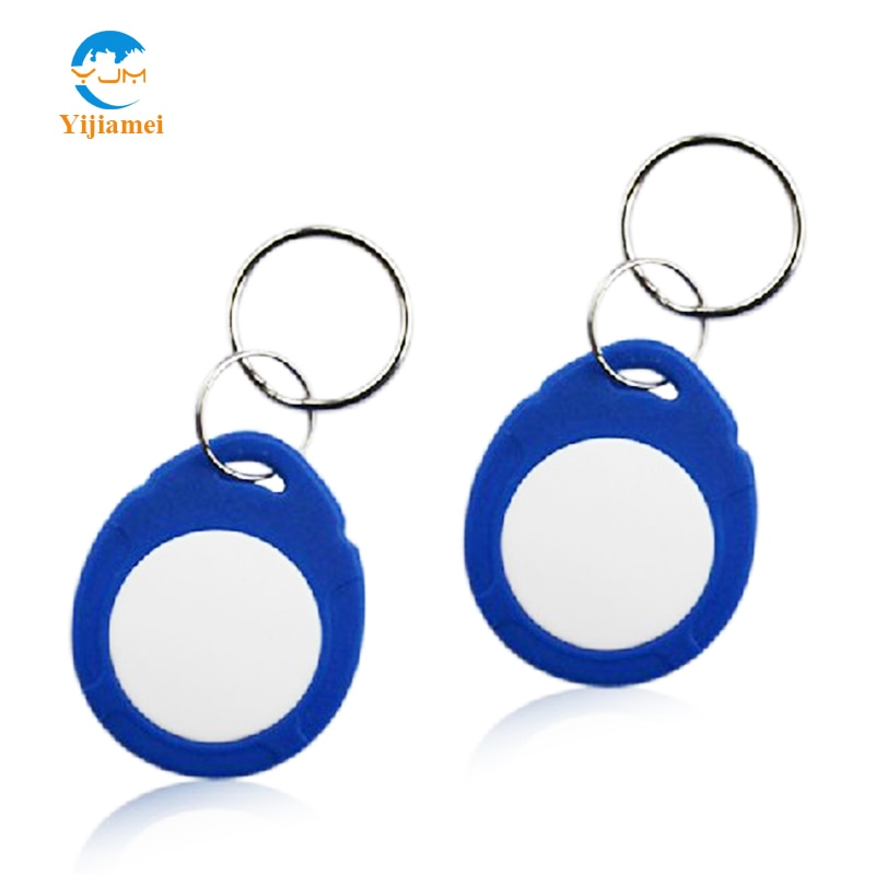 ISO 18000-2 Atmel T5577 Proximity ID Tag Key Ring 125KHZ RFID keyfobs waterproof  ABS keychain keytags writable blank keyfobs
