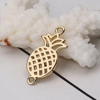 doreenbeads zinc based alloy connectors pineapple ananas fruit gold silver jewelry accessories 26mm1 x 13mm 48 20 pcs