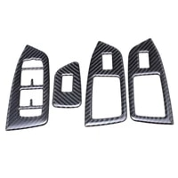 bbqfuka 4 pcs car door armrest window lift button panel trim cover car accessories styling fit for volvo xc90 2016 2018