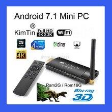 KimTin MK903C Android TV Stick RK3229 Quad Core 2GB 16GB OS 7.1 4K Wifi TV Dongle Miracast TV Player Smart Mira écran Mini pc