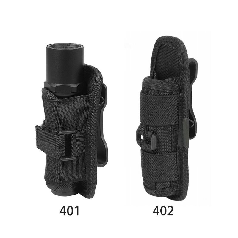 1 Pc Tactical 360 Degrees Rotatable Flashlight Pouch Bag Holster Torch Case for Belt Torch Cover Hun